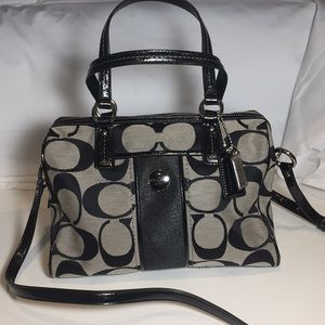 Coach Signature Satchel Handbag F24364